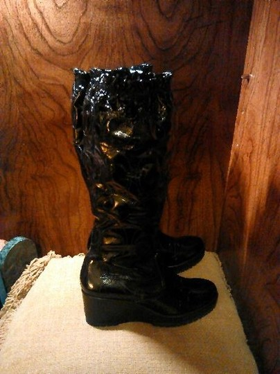 Coach Leather Black Boots Image 1