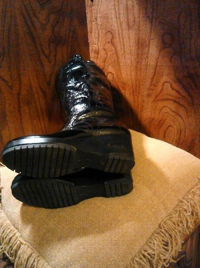 Coach Leather Black Boots Image 3