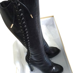 Sergio Rossi Knee High Black Boots