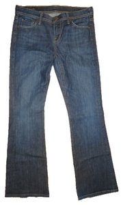 Citizens of Humanity Distressed Stretchy Denim Flare Pants Blue