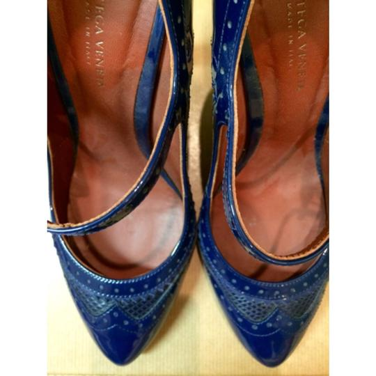Bottega Veneta Cobalt Blue Pumps