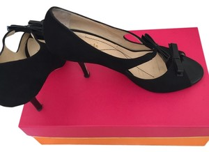 Kate Spade Suede & Patent Leather Black Pumps