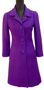 Kate Spade Winter Fitted A-line Size 2 Button Front Coat