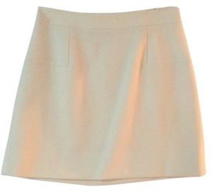 J.Crew Mini Wool Mini Skirt Off white