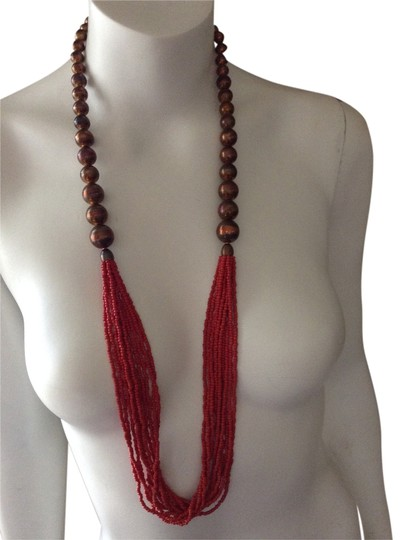 Preload https://img-static.tradesy.com/item/8414758/bronze-and-red-beads-necklace-0-1-540-540.jpg