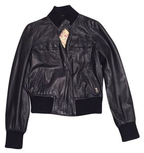 French Connection Blac Leather Jacket