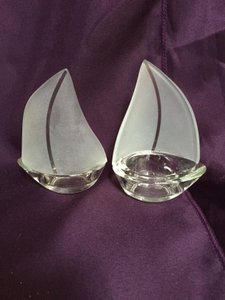 Kate Aspen Frosted Glass 20 Sailboats Accent For Special Event Or Beach House. Reception Decoration