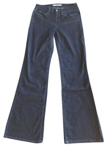JOE'S Jeans Trouser Dark Denim Trouser/Wide Leg Jeans-Dark Rinse