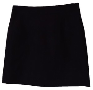 J.Crew Mini Blue Wool Mini Skirt Navy blue