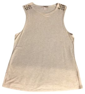 Forever 21 Top Tan with grey metal spikes