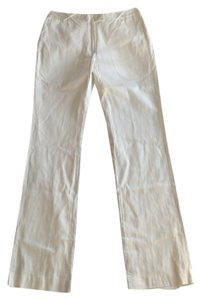 Cynthia Rowley Cotton Straight Bootcut Straight Pants White