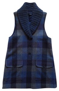 Theory Sweater Plaid Knit Vest