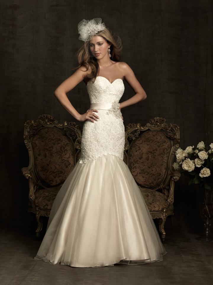 Allure Bridals Light Rose Pink with Ivory Lace Pearl/Silver Option ...
