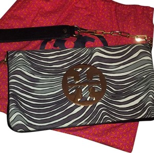 Tory Burch Black And White Clutch