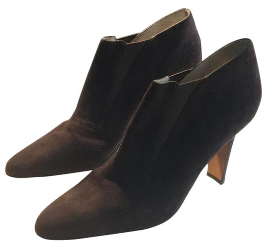 Donna Karan Vintage Suede Pointed Toe Chocolate Boots