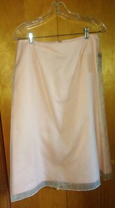 Peach Brandy Lined Silk Organza Dress