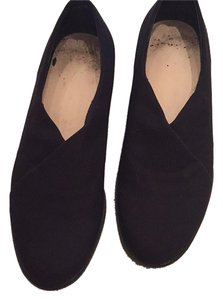 Munro American Stretch Fabric Comfort All Day Casual Black Wedges