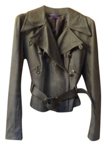 Ralph Lauren Black Label Olive/Grey Leather Jacket