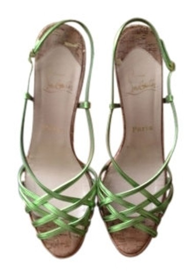 Preload https://item4.tradesy.com/images/christian-louboutin-metalic-green-night-cage-zeppa-nappa-strappy-sandal-pumps-size-us-10-regular-m-b-8418-0-0.jpg?width=440&height=440