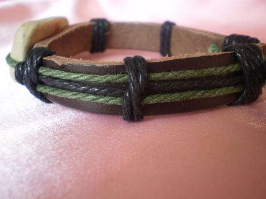 Other New Boho Leather Peace Sign Bracelet