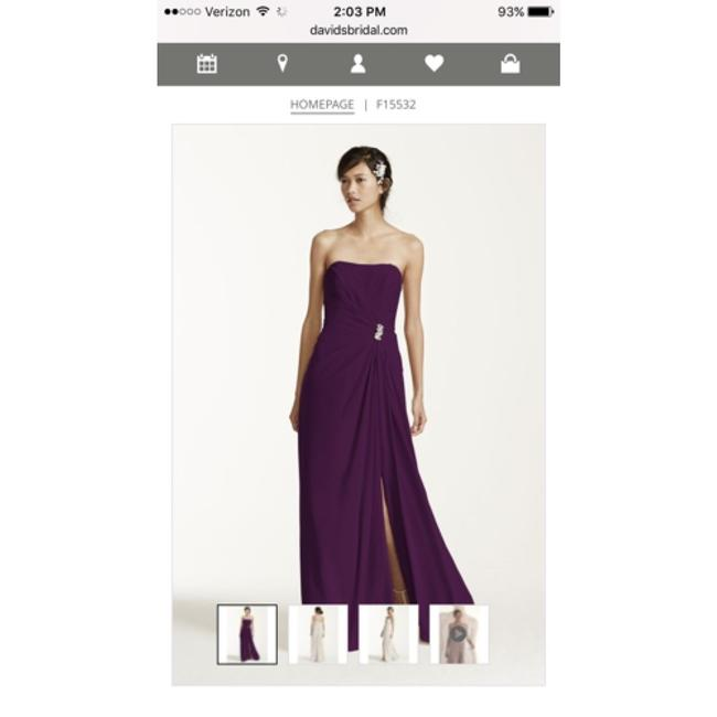 Item - Plum Crepe Modern Bridesmaid/Mob Dress Size Petite 10 (M)