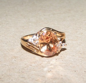 Champagne Topaz Fashion Ring Free Shipping