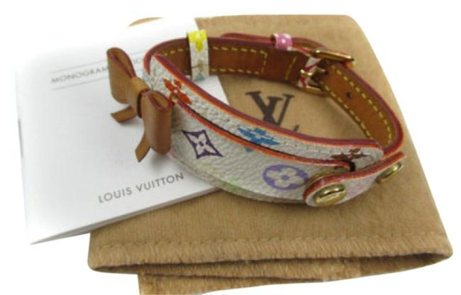 Louis Vuitton Multi Color Monogram Canvas Leather Bracelet Ribbon Bow Louis Vuitton Multi Color Monogram Canvas Leather Bracelet Ribbon Bow Image 1