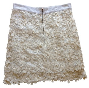 SABO SKIRT Crohet Floral Lace Mini Mini Skirt white