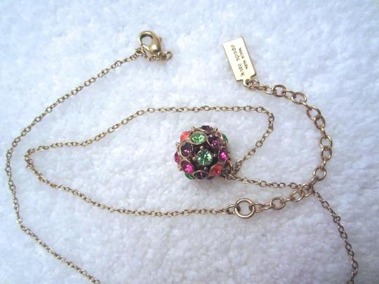 Kate Spade Lady Marmalade Disco Ball Pendant 12kt Gold Plated Necklace