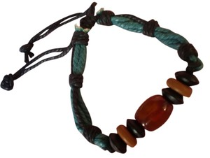 Other New Boho Agate/Chinese Red Pine Wood Bracelet