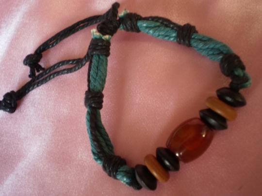 Other New Boho Agate/Chinese Red Pine Wood Bracelet Image 2