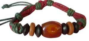 New Boho Agate/Chinese Red Pine Wood Bracelet