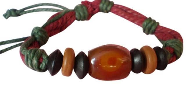 New Boho Agate/Chinese Red Pine Wood Bracelet New Boho Agate/Chinese Red Pine Wood Bracelet Image 1