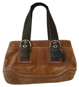 Coach Satchel in Medium Brown
