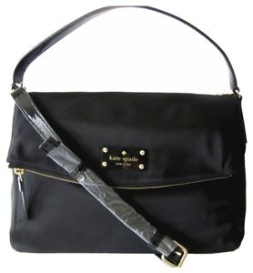 Kate Spade Nylon Crossbody / Shoulder Strap Shoulder Satchel in Black