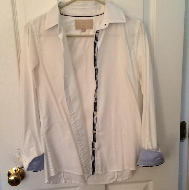 Banana Republic Button Down Shirt White with blue details