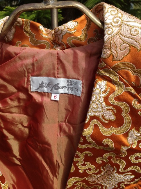 Silk Box Orange Blazer