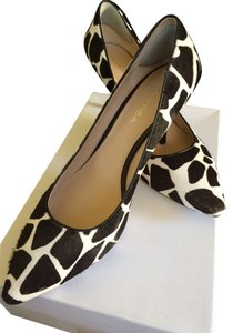 Via Spiga Italy Dalmation Kitten Points & Black & White Pumps