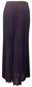 Ellen Tracy Pleated Maxi Maxi Maxi Skirt Black