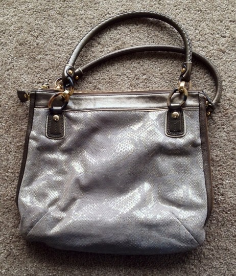 Coach Tote in Gold/Bronzed Smoke Image 2