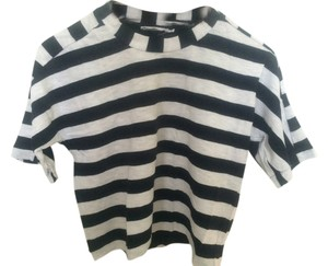 Zara T Shirt Black&white stripe