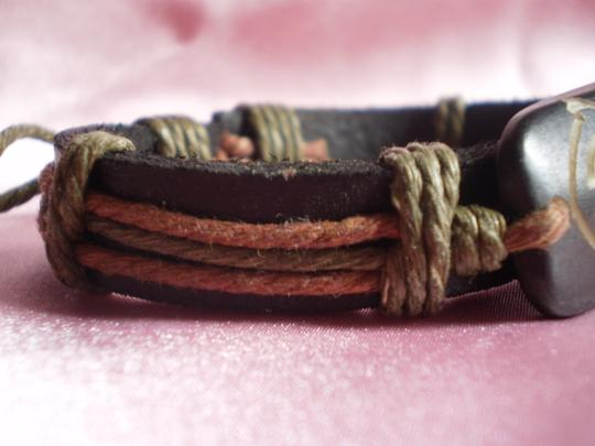 Other New Boho Leather/Wood Bracelet Image 3
