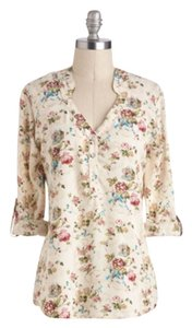 Modcloth Top Cream/floral