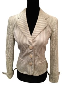 INC International Concepts Pin Stripe Off White Blazer
