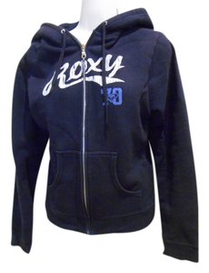 Roxy Navy Shirt Zip Zipper Cotton Jacket Beach Summer School Casual Saturday Trend Bonfire Sweatshirt