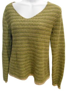 Christopher & Banks And V-neck Light Light Shirt L Large 12 14 Olive Sweater