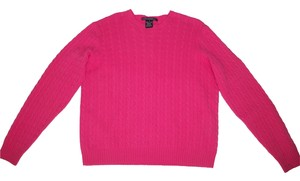 Ralph Lauren Cashmere Cable Knit Pink Sweater