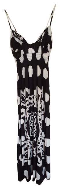 Item - Black and White Long Casual Maxi Dress Size 8 (M)