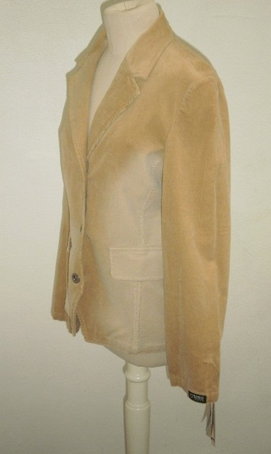 XOXO Stretch Corduroy Stylish tan Blazer Image 1