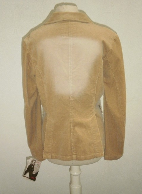 XOXO Stretch Corduroy Stylish tan Blazer Image 2